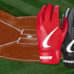 Two Nike Force Edge batting gloves